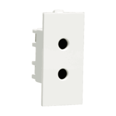Athena Socket 6A 2 Pin Shuttered Socket with ISI marking
