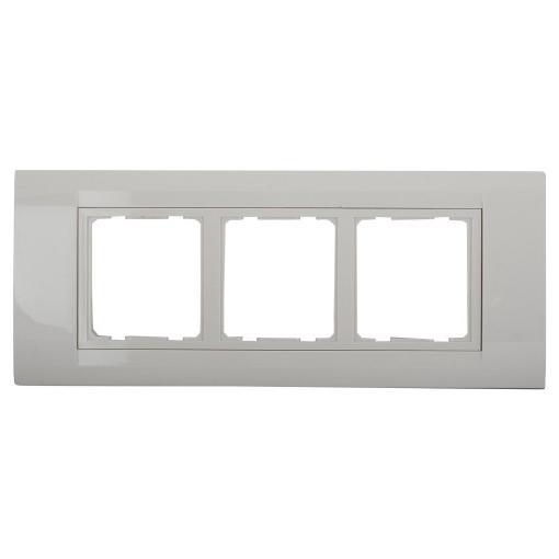Anchor Roma TRESA Face Plate White 30238WH 3 Module