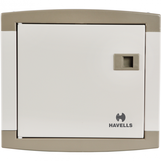 Havells DHDPSHOSRW04 SP&N Distribution Board, Color Regal Grey, No. of Ways 4