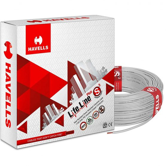 Havells wire Life line Fire Resistant 200 Mtrs 0.75 Sq mm