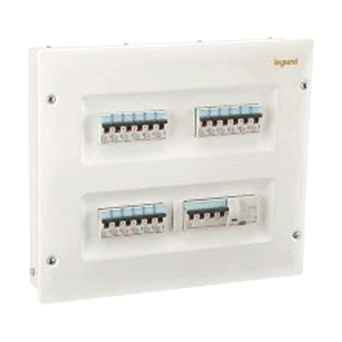 L&T DBTPE004SD IP30 4 Way Single Door Distribution Box