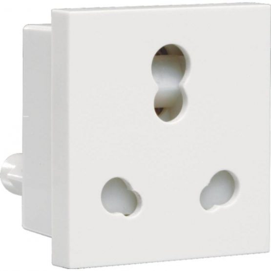 Athena Socket 6/16 A 3 Pin Shuttered Socket with ISI