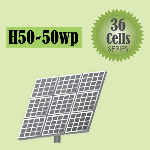 H50-50wp Solar 36 Cells Series