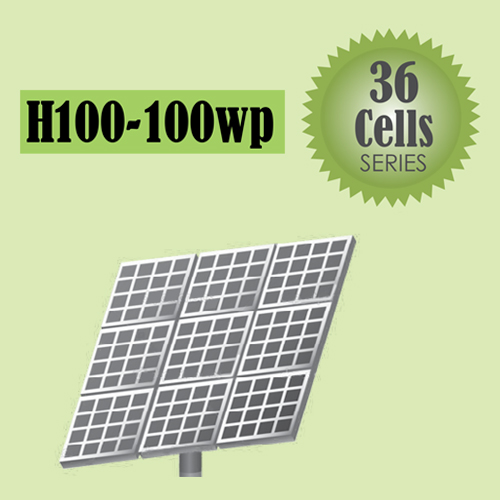 H100-100wp Solar 36 Cells Series